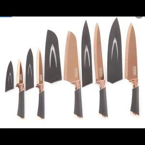 COPPER KNIVES SET